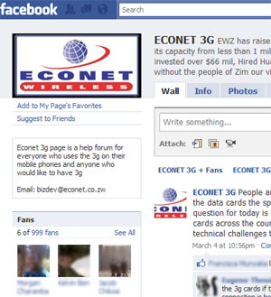 Eonet 3G Facebook Page