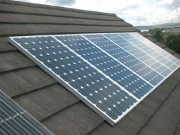 Solars on roof