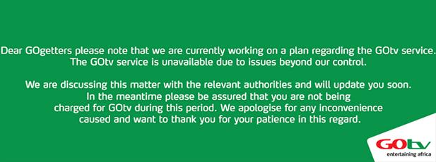 GOTV's statement on their Facebook page