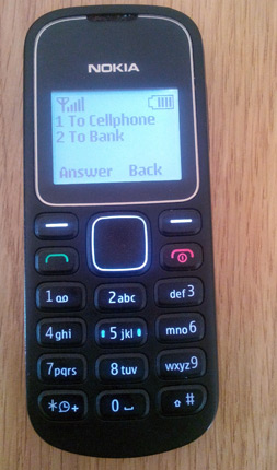 Telecel ZIPIT menu - a Telecel subscriber can send money from their bank acocunt to any cellphone