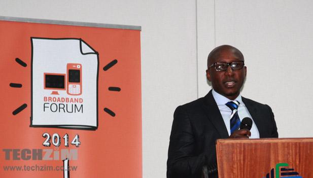 TelOne sales and marketing director, Joseph Machiva, speaking at the Broadband Forum