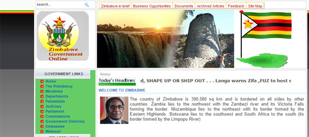 Zimbabwe Government Websites