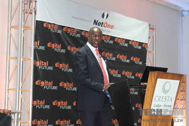 Gelfand Kausiyo, Project Lead for the Digital Migration exercise, makes his presentation at the Digital Future Conference