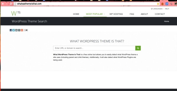 What Theme is that allows you to see the WordPress themes and plugins used by a website.