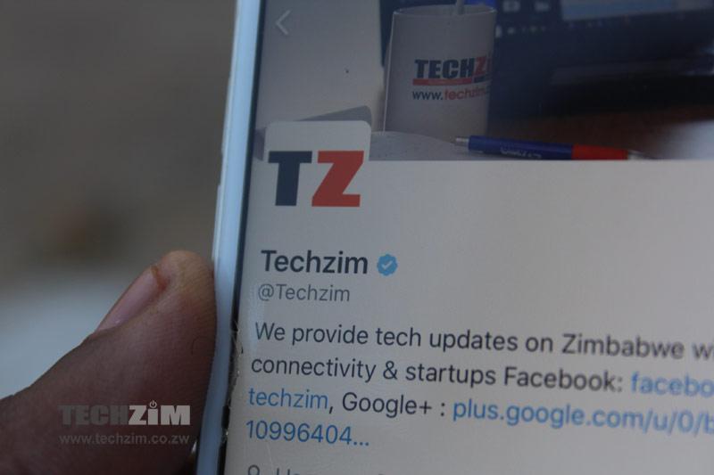Social Media accounts, Techzim,