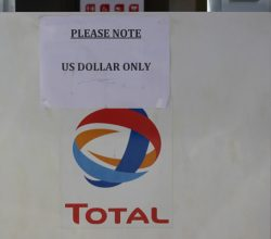Total Zimbabwe fuel pump, us dollars