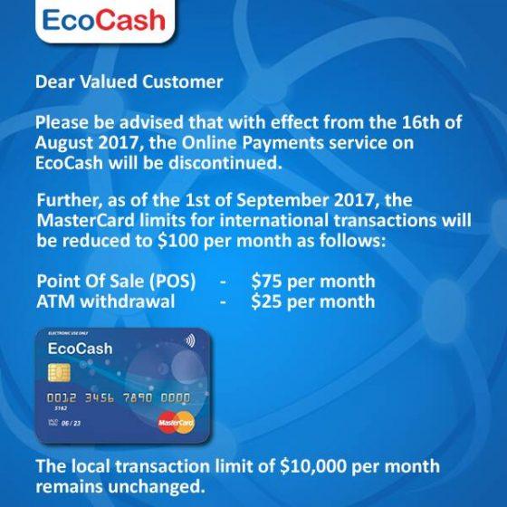 EcoCash Mastercard