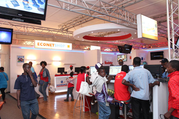 Part of the Econet Wireless stand