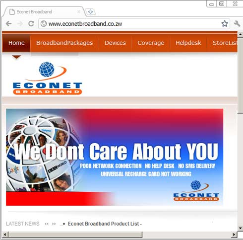 Econet Defaced Website