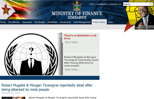 Ministry of Finance Zimbabwe hacked