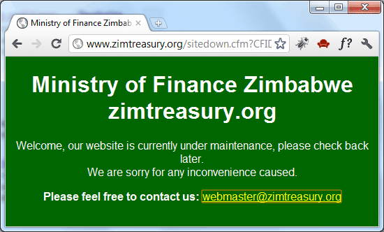 Finance Ministry Zimbabwe