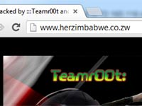 Her Zimbabwe too has been hacked