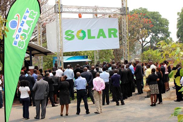 Econet Solar Green Kiosks launch