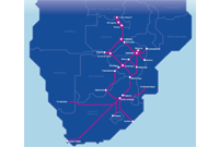 The latest Liquid Telecom terrestrial fibre map