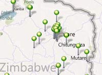 Kubatana maps Typhoid affected areas from crowd sourced info