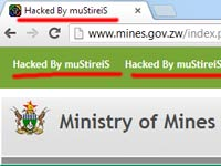 Government website hacked