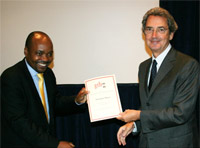 Young Zimbabwean telecoms executive receives global award