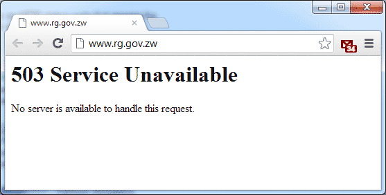 RG's department website website error 1259hrs-12102012