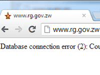 More trouble with the Registrar General's website