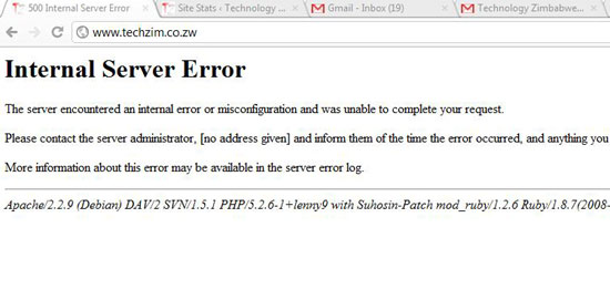 Techzim Error