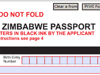 Now you can get the Zimbabwean passport form online