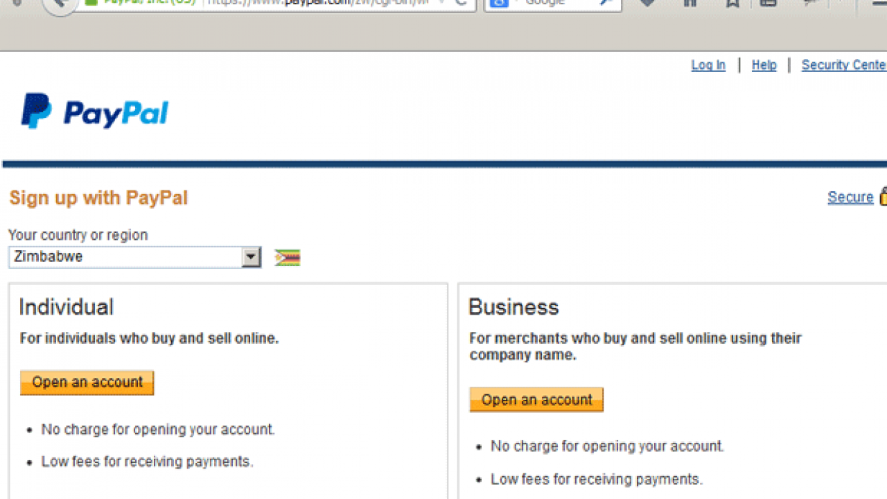 PayPal In Zimbabwe: Here's How To Open Your PayPal Account - Techzim