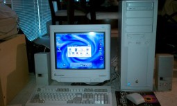 A Gateway 2000 desktop running Windows 98 and Office 97