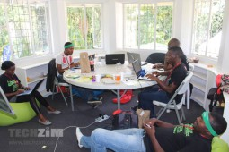 Young people working at a startup
