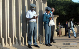 State agents using phones
