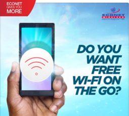 Econet Wireless, WiFi Zones, Free Internet