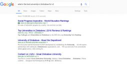 Google search, best university for ICT in Zimbabwe