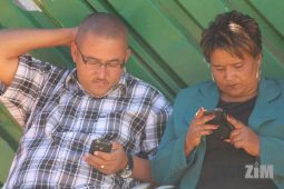 people looking at their phones mobile data Zimbabwe