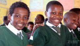 Primary school children in class