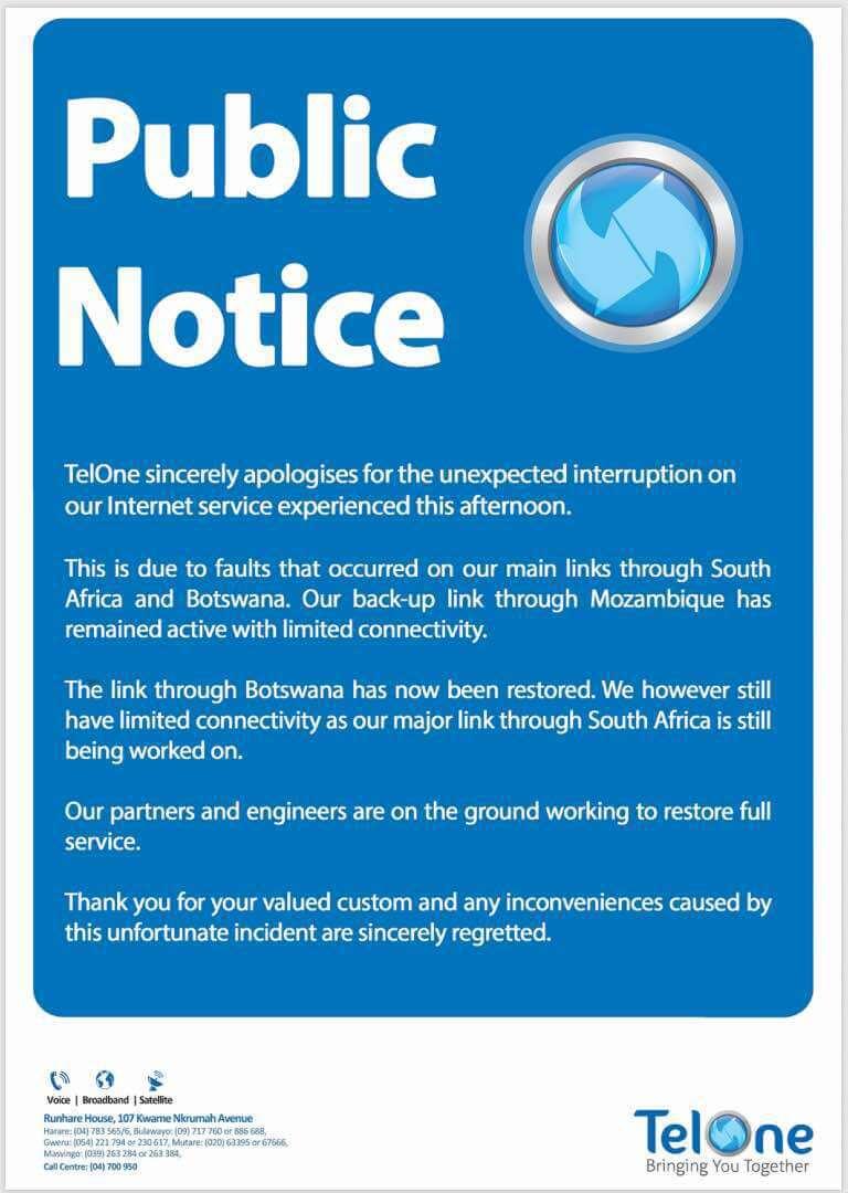 TelOne Statement