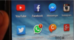 Phone screen showing social media apps