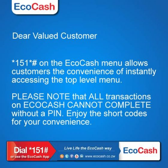 Econet's statement on EcoCash