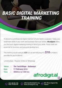 Afrodigital Basic Digital Marketing Training Bulawayo February 2018