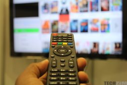 Changing TV channel with remote