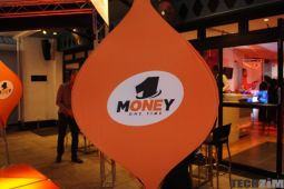 OneMoney banner at an event, OneMoney promotion, 500MB