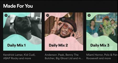 Spotify Made for You, Spotify Zimbabwe, Daily Mixes